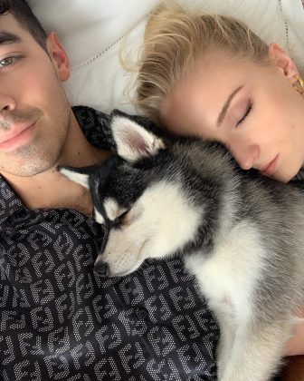 Joe Jonas and Sophie Turner's new matching tattoos pay tribute to their late dog. (Photo: Instagram)