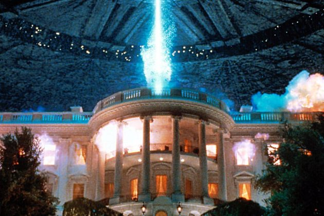 Independence Day—The joyful festivities that take place on this national holiday take a turn for the worse when aliens begin to size major cities in the U.S. (Photo: Release)