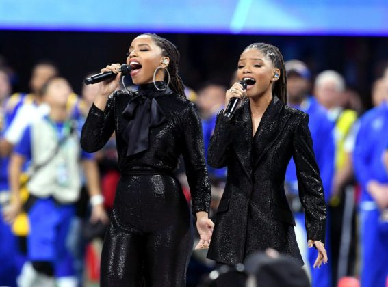 "Chloe and Halle have also had performance during high-profile events like the 2019 Super Bowl, where they sang ""America the Beautiful."" (Photo: Instagram)"