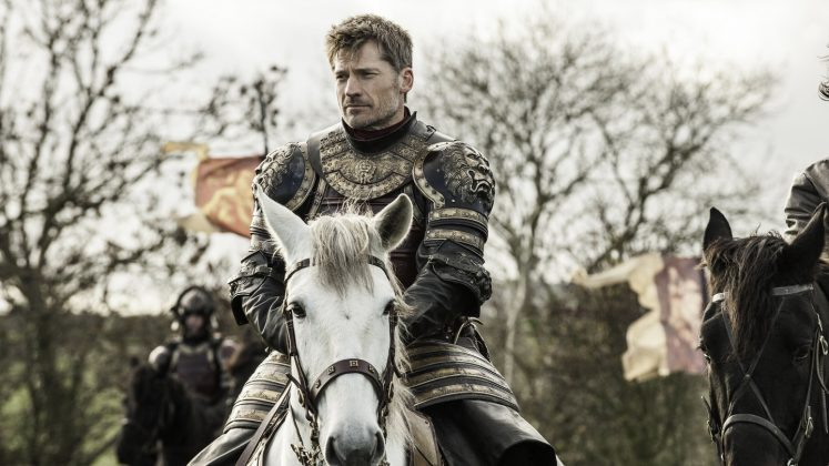 "Because the Lannister genes are blessed. Whenever Jaime would suit up in his fancy armor, it was like he was whispering in our ears, ""Yes, I will shield you with my beautiful body."" (Photo: Release)"