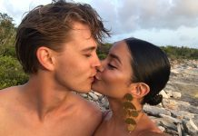 Austin and Vanessa smooching lips while looking absolutely perfect doing so. (Photo: Instagram)