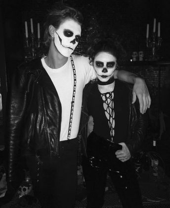 Vanessa and Austin rocking the skull look—naturally, 'cause they're good at everything. (Photo: Instagram)