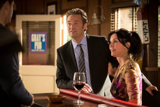 """He reunited with Courteney Cox when he guest-starred in her show """"Cougar Town."""" He portrayed Sam—a character that is basically Chandler, just older and more confident. (Photo: Release)"""