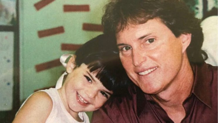 "Her dad posted a picture of Kendall on Instagram and wrote: ""Life was so simple back then, but life is so good today. Happy birthday to my little baby @kyliejenner."" (Photo: Instagram)"
