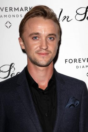 If you want Tom Felton to Slytherin your DMs with a video message it will cost you $222. (Photo: WENN)