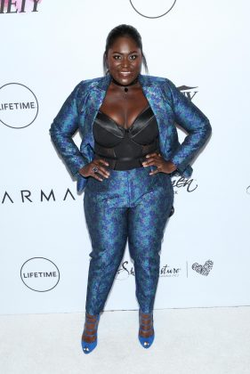 Danielle looked fierce in a blue printed blazer and jacket paired with a black bustier as she attended Variety's Power of Woman 2017 event. (Photo: WENN)