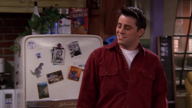 """""""How you doin'?"""" became the ultimate pickup line in the 90's thanks to Joey Tribbiani. (Photo: Release)"""