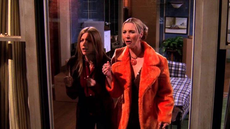 """Phoebe yelled """"My eyes!"""" when she saw Monica and Chandler hooking up, but it can be use any time you see something you can't un-see. (Photo: Release)"""