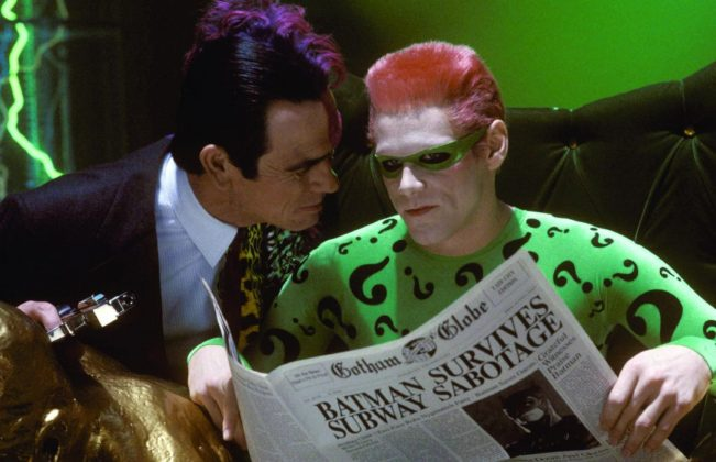 "The Riddle was last played on the big screen by Jim Carrey in ""Batman Forever."" (Photo: Release)"