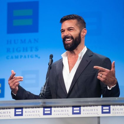 Ricky Martin broke the news while receiving the HRC National Visibility Award. (Photo: Instagram)