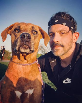 """His baby with Jenna will be Steve's first child. However, he already is a doting dog-dad. """"All I post are pictures of my dogs. I am okay with this fact,"""" he wrote on Instagram. (Photo: Instagram)"""