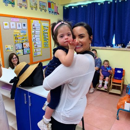 She also visited the Shalva National Center, a center for children with special needs. (Photo: Instagram)