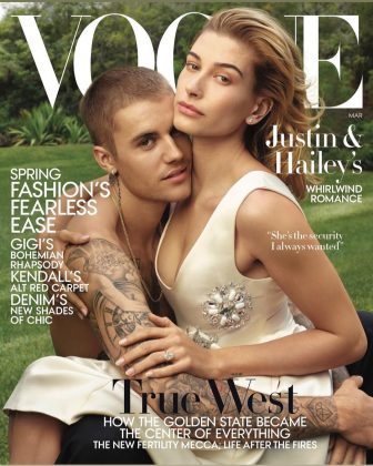 The Biebers gracing the cover of Vogue Magazine. (Photo: Instagram)