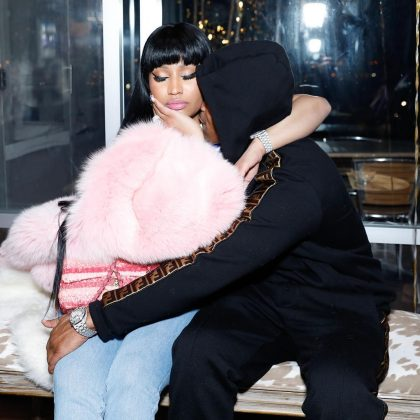 "Nicki Minaj doesn't really care about his past. ""He was 15, she was 16… in a relationship. But go awf internet. Y'all can't run my life."" (Photo: Instagram)"
