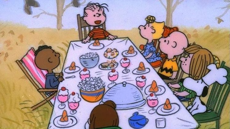 'Charlie Brown Thanksviging.' Peppermint Patty tricks Charlie Brown and Sally into having dinner with her, Franklin and Marcie instead letting them visit their grandparents for Thanksgiving. (Photo: Release)
