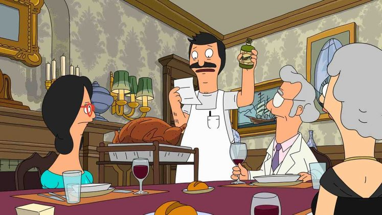 "Bob's Burgers - ""An Indecent Thanksgiving Proposal."" Mr. Fischoeder hires Bob as his cook for Thanksgiving dinner, and the rest of the Belchers to pose as his own family in attempts to impress his date. (Photo: Release)"