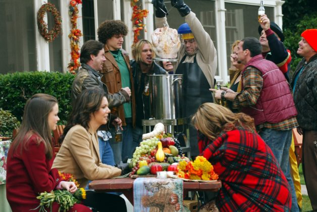 Gilmore Girls - 'A Deep-Fried Korean Thaksgiving.' Lorelai and Rory's boundless appetite is put to the test when they find themselves quadruple booked for Thanksgiving dinner. (Photo: Release)