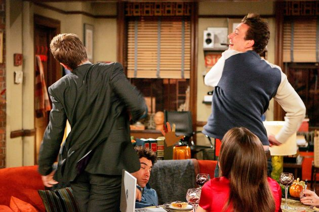 How I Met Your Mother - 'Slapsgiving.' Marshall continues one of the show's longest running gags and delivers Barney's third slap, while Ted and Robin struggle to remain friends after their breakup. (Photo: Release)