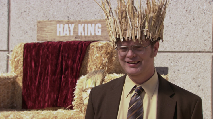 The Office - 'WUPHF.com.' Dwight sets up a hay festival in the parking lot of Dunder Mifflin because it reminds him of his childhood… and because he can make some money from it. (Photo: Release)