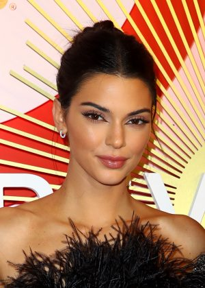 "Kendall Jenner appeared to throw some shade at her wings by posting a picture to her IG story that read ""Celebrate Trans Women,"" in references to Razek's remarks. (Photo: WENN)"
