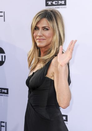 """""""You're seeing what's available and it's just… big Marvel movies, or things that I'm not just asked to do, or really that interested in living in a green screen.""""—Jennifer Aniston. (Photo: WENN)"""