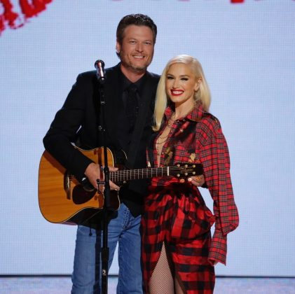 """The pair met on the set of """"The Voice."""" (Photo: WENN)"""
