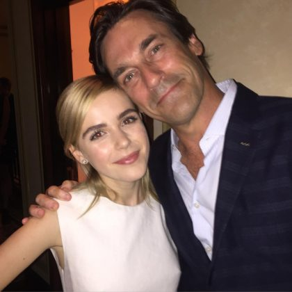 Kiernan and her on-screen dad are still friends! Kiern and Jon Ham have shared several pictures of their endearing encounters since the end of 'Mad Men'. (Photo: Instagram)