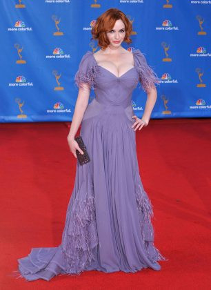 Christina Hendricks took the plunge in this dress at the 2010 Emmy Awards. (Photo: WENN)