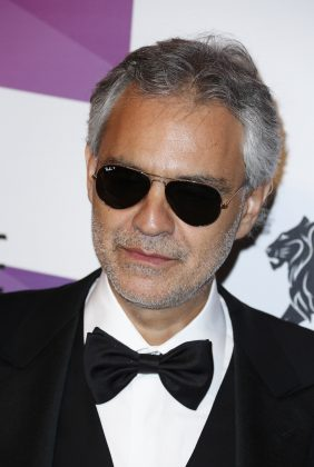 Tenor, musician, writer and musical producer, Andrea Bocelli was born with a congenital glaucoma that left him partially blind. (Photo: WENN)