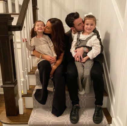 "Likewise, Danielle Jonas shared a family photo, adding: ""So thankful &blessed for my little family."" (Photo: Instagram)"