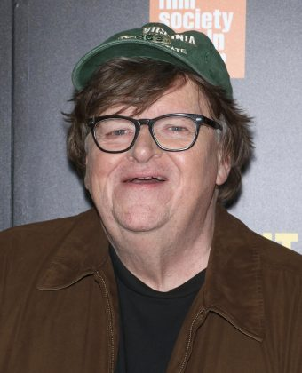 "Cinematographer Michael Moore got a first-row seat witnessing history. ""Congress is about to impeach a lawless, criminal president."" (Photo: WENN)"