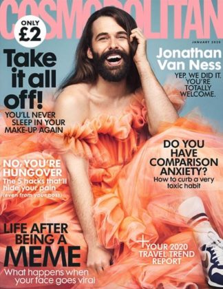 Jonathan Van Ness made history with the first non-female cover for Cosmopolitan U.K. in 35 years. But he's been slaying gender norms with style for quite some time now. (Photo: Instagram)