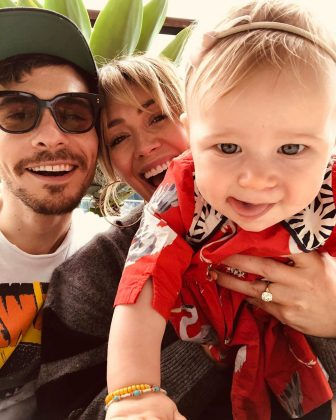 The couple have a daughter together—his first child. Matt and Hilary welcomed their daughter, Banks Violet Bair, last year. (Photo: Instagram)