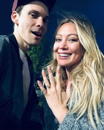 "Duff and Koma got engaged this summer. ""I asked my best friend to marry me…"" he posted, to which she replied ""Thanks for the promotion."" (Photo: Instagram)"