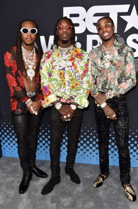 Given that Migos performer Offset is married to Cardi B, you know what side he defended in the massive Cardi B vs. Nicki Minaj war. Beef by association, I guess! (Photo: WENN)
