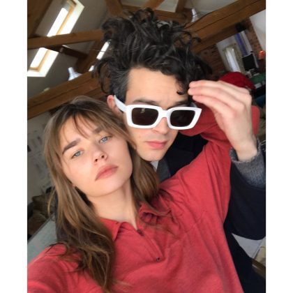 Like Hemsworth, Brooks is coming off of a long-term relationship. She broke up with 1975 frontman Matt Healy over the summer after 4 years together. (Photo: Instagram)
