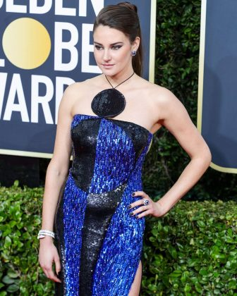It is no (big little) lie that Shailene Woodley's bold sparkly gown was too much for her to pull off. (Photo: Instagram)