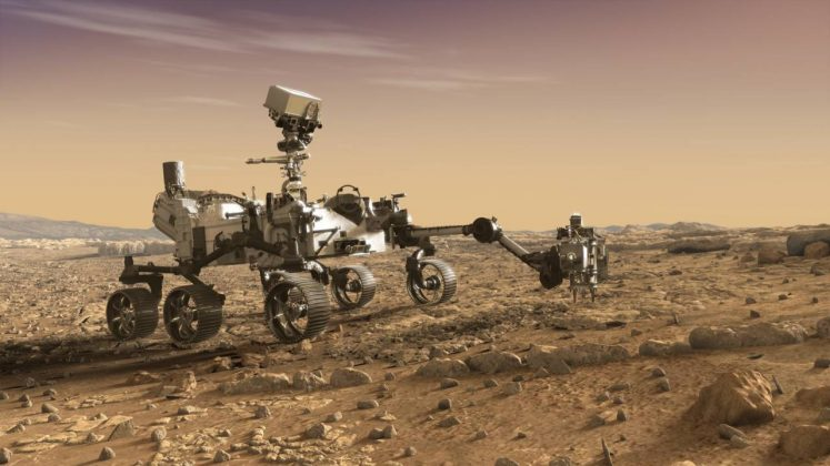 The Mars 2020 rover will join the Curiosity rover on the Red Planet. (Photo: Instagram)