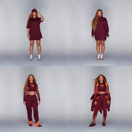 The collection featured hoodies, jackets, fanny packs, sports bras, cycling shorts, hats and sneakers, all following an orange, maroon and white color scheme. (Photo: Instagram)
