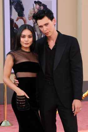 "Vanessa Hudgens was more than happy to support her boyfriend at the ""Once Upon a Time In Hollywood"" premiere. (Photo: WENN)"