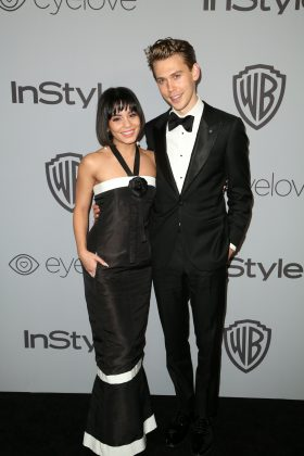 The pair looked so cute together as the arrived at the InStyle & Warner Bros party following the 2018 Golden Globes., (Photo: WENN)