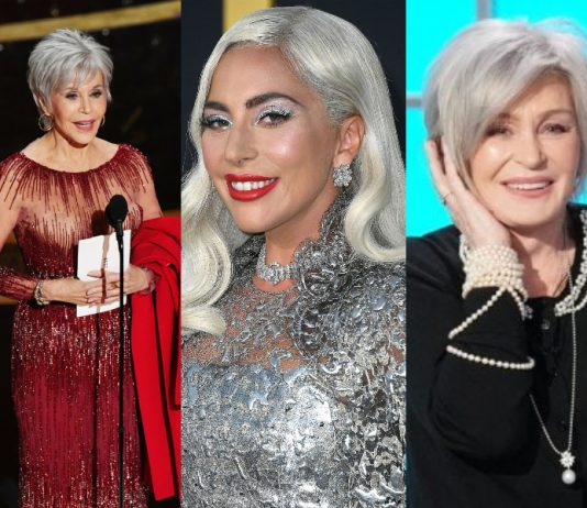 "Whether it is aging with grace or a preferred fashion, these 15 famous women with gray hair own the ""silver fox"" life better than man do! (Photo: WENN)"