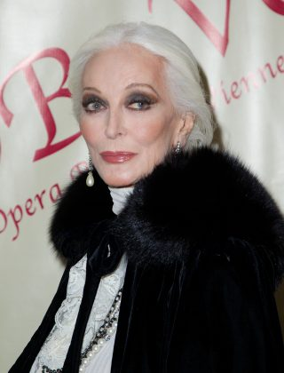 Carmen Dell'Orefice sophistication has us dreaming of finding our first gray hair! (Photo: WENN)