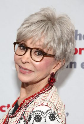 Rita Moreno has a cute spiked cut that is totally chic and youthful—despite the grayness! (Photo: WENN)