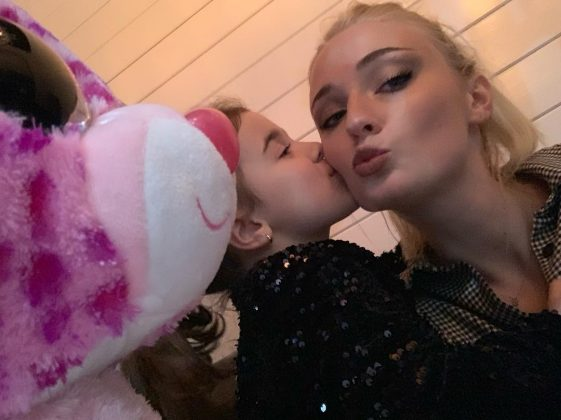 Not to mention the girls seem thrilled to now have Sophie Turner for an aunt! (Photo: Instagram)