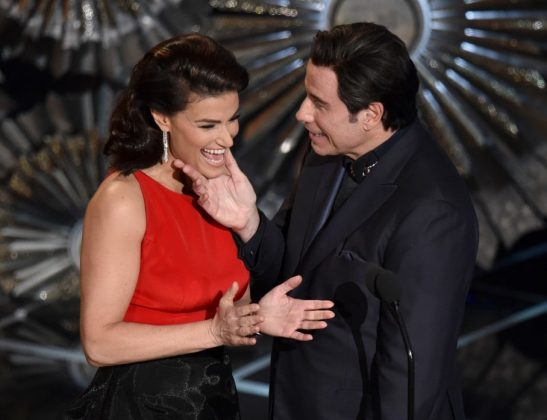 "John Travolta completely butchered Idina Menzel's name when he called her ""Adele Dazeem"" when introducing her performance of ""Let it Go"" at the Oscars. (Photo: WENN)"