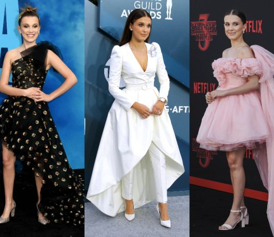 In honor of her birthday, we take a look at Millie Bobby Brown's style in 11 pictures. Could her high sense of fashion be yet another one of Eleven's super powers? (Photo: WENN)