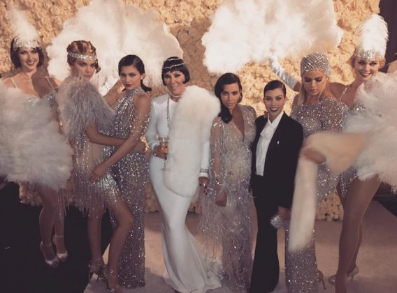 Kris Jenner helped shape the careers of her famous daughters, so it's only right that they repaid her with an epic Gatsby-themed 60th birthday party. (Photo: Instagram)