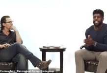 Matthew McConaughey, 50, appeared with broadcaster Emmanuel Acho on his talk show Uncomfortable Conversations with a Black Man amid a time of social unrest following the police killing of George Floyd (Photo: Instagram)