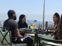 Kim Kardashian seen with Meek Mill in 2018 as picture proves they DID have a meeting on prison reform at Waldorf Astoria in LA alongside philanthropist Clara Wu (Photo: Picture)